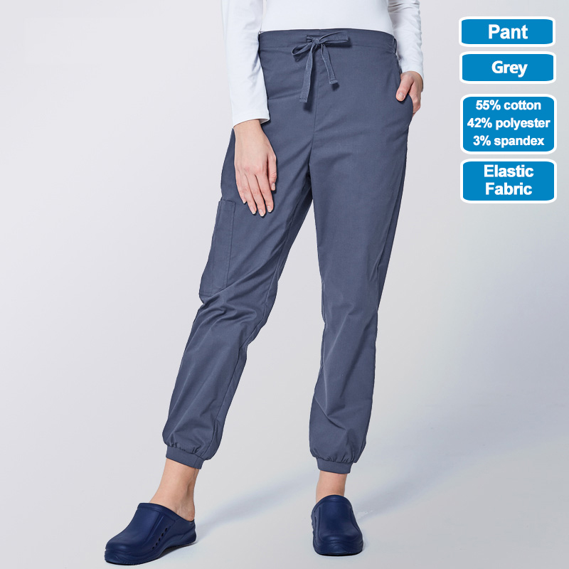 Image 4 - ANNO Work Trouser Doctor Nurse Uniform Bottoms Elastic Cuffs Dental Medical Clothing Scrub Nursing Pants for Women MenScrub Tops & Bottoms   -