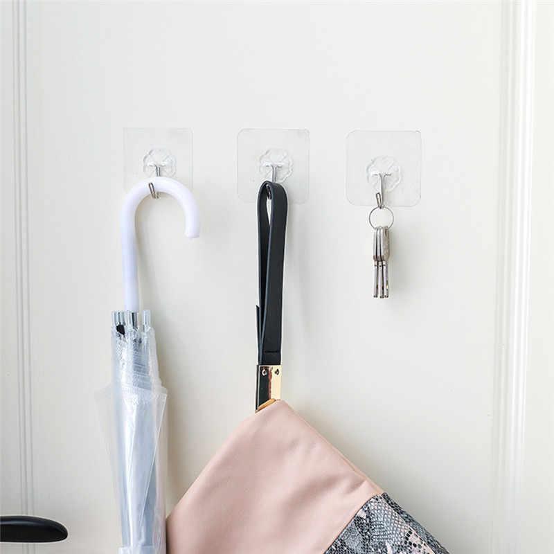 Adesivos de parede fortes com 5kg, decoração de sala de estar, cozinha, quarto e banheiro, 1 peça cabide de cabide