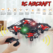 Mini Drone Gesture Induction Aircraft Levitation Quadcopter LED Night Light Navigation Hand-Controll