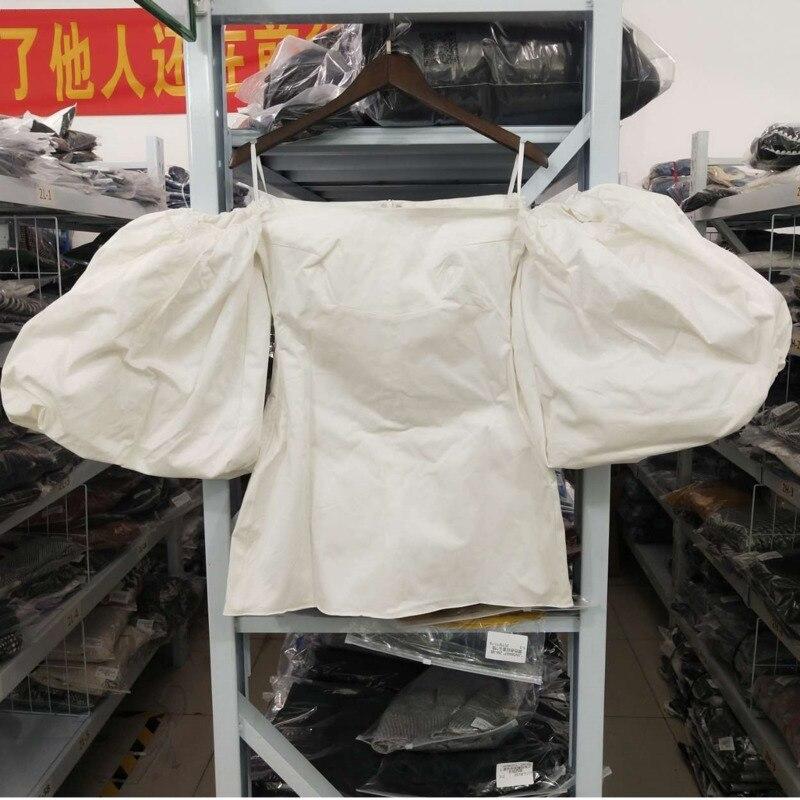 DEAT 2020 nouveau été mode femmes vêtements fermer slash col lanterne manches hors de l'épaule mini longueur robe sexy WG28900L - 5