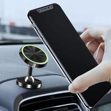 Car-Phone-Holder 360 Degrees Rotation Luminous Magnetic Car Vehicle Dashboard Phone Holder Stand