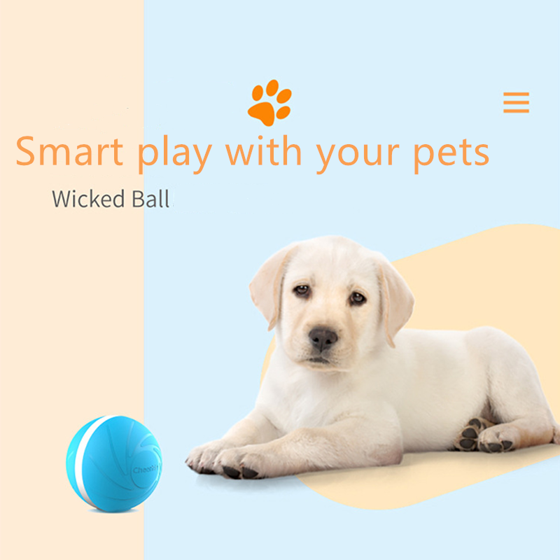 Wickedball Pet Toy Plush Ball For Cats Dogs Automatic and Rechargeable Smart BallsAnti-bite