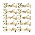 10 шт., деревянные предметы, семейные буквы, украшения, поделки, деревянные украшения, вырезанные деревянные Семейные знаки, деревянные слова