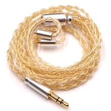3.5/2.5/4.4mm equilibrado atualizado personalizar o cabo de fone de ouvido prata esterlina banhado fio de alta fidelidade áudio fone de ouvido linha para se846 t1117