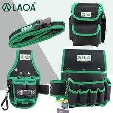 LAOA High quality Waterproof Tool Bag Multifunction Electrician's Repair Kit Thick Fabric Tool Belt Bag