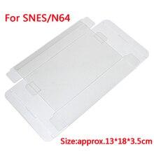 10 pçs muito claro transparente caso protetor cib jogos pet caixa de proteção plástico para snes para N 6 4 caixas de jogo