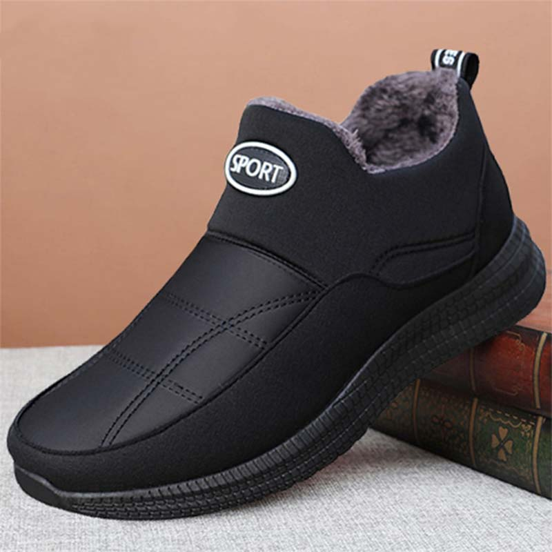 Мужские зимние защитные ботинки, теплые зимние ботинки, мужские модные ботинки, Мужская рабочая обувь, мужские зимние кроссовки, плюшевая меховая обувь|Ботинки| | АлиЭкспресс