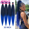 30inch Jumbo Braids Hair Extensions Braiding Hair Pre Stretched Ombre Synthetic Braid YAKI Texture 1/2/4/6/8 Pcs Mirra's Mirror 1