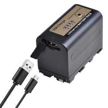 5200mAh nuevo NP-F770pro NP-F750 NPF750 NPF770 batería y carga USB de salida para Sony NP F970 F960 F550 F570 QM91D CCD-RV100 Cámara