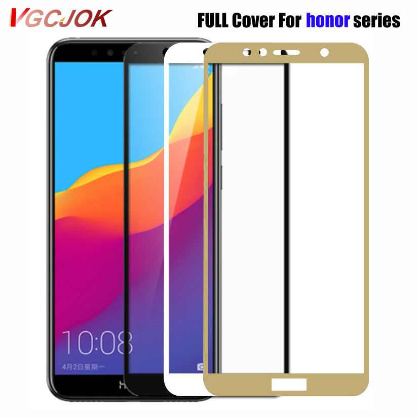 Full Cover Protective Glass For Huawei Honor 8 9 Lite Screen Tempered Protector Glass On Honor 9X 8X 8A 8C 7A 7C Play Glass Film
