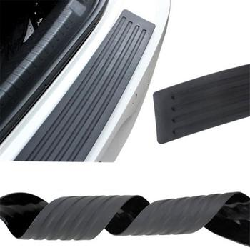 Car Trunk Door Sill Plate Rear Bumper Guard Protector Rubber Pad Durable Protective Self-adhesive Car Rear Bumper Protector Set image