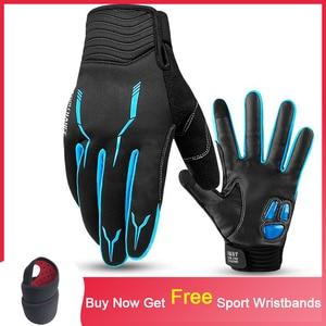 Перчатки для езды на велосипеде с сенсорным экраном, гелевые противоскользящие перчатки для езды на велосипеде MTB, спортивные перчатки для ...