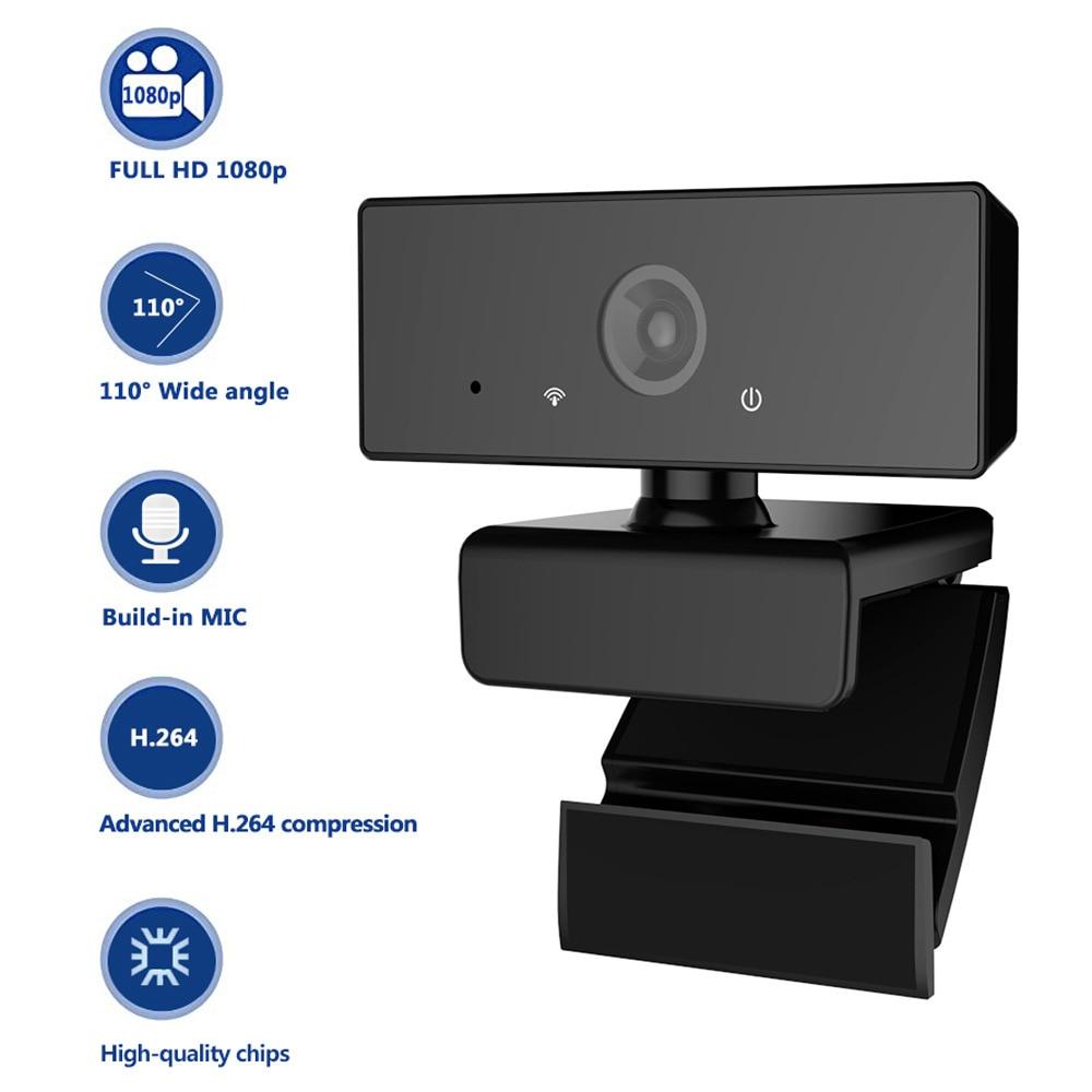 SeenDa 1080P HD Webcam USB HD Autofocus PC Camera Build-in Microphone MIC for Skype for Android TV Computer Camera USB Web Cam