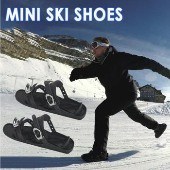 Ski Shoes Suitable Durable Nylon Sole Black Board Skiing Sled Snowboard Shoes High Quality Thickened Pad Sports Ski Board