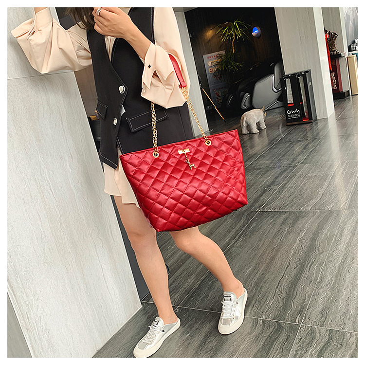 Women Handbag PU Leather 2020 Designer Brand Luxury Chain Shoulder Messenge Crossbody bag Large Capacity Office Lady Bag 7