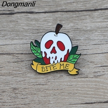BG047 Dongmanli Apple Hard Enamel Pins and Brooches Lapel Pin Backpack Bags Badge Clothes Decoration Gifts sp044 viking rune hard enamel pins and brooches women men lapel pin backpack bags cartoon anime badges gifts punk jewelry