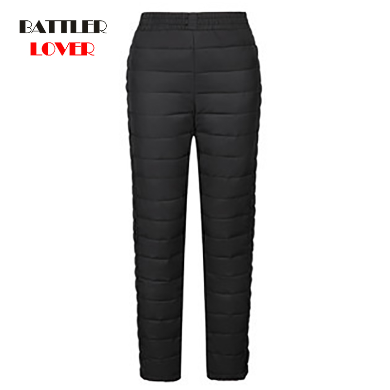 2019 New Women Pants Trousers Winter High Waist Outer Wear Female Casual Straight Warm Thick Duck Down Pants Cold-proof Trousers