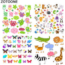 ZOTOONE Cute small animal high heel butterfly patch child clothing sticker boy girl DIY T-shirt thermal transfer vinyl O