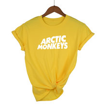 Arctic Monkeys Gelombang Suara T-shirt Tee Top Rock Konser Band-Album Tinggi Tshirt Tshirt Kaos Unisex Lebih Banyak ukuran dan Color-A112(China)