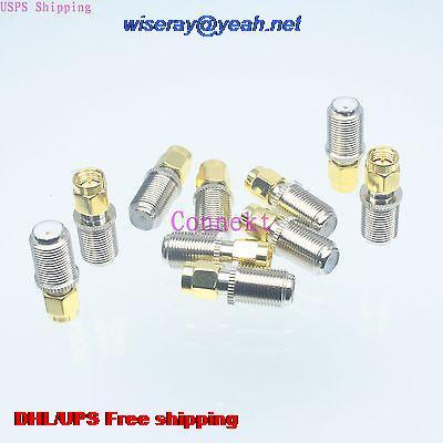 DHL/EMS 200pcs Adapter F TV Female Jack To SMA Male Plug Straight RF COAXIAL-A3
