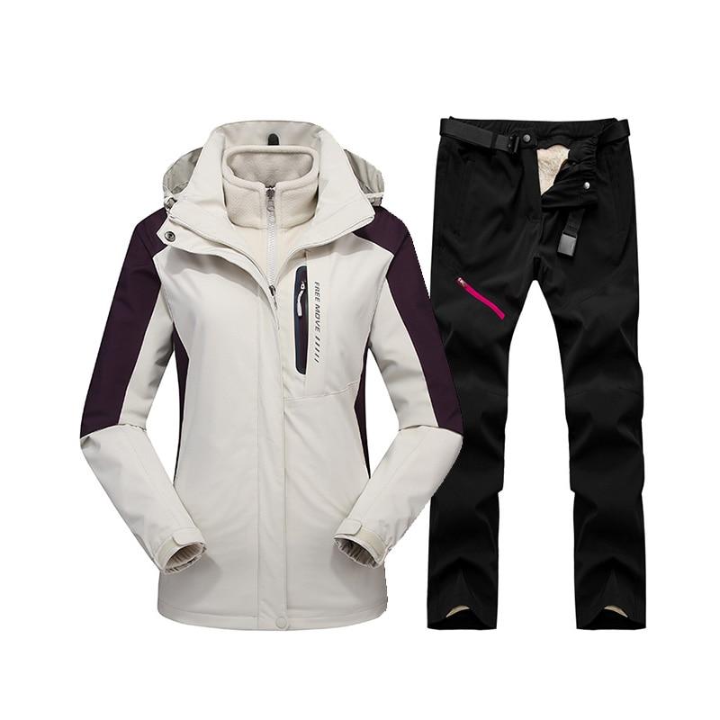 Winter Ski Suit For Women High Quality Ski Jacket Pants Snow Warm Waterproof Windproof Skiing Snowboard Jacket Women's Ski Suits