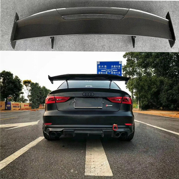 Car Styling Exterior Carbon Fiber Modified Rear Spoiler Tail Trunk Lip Wing Decoration Fit for Audi A3 S3 RS3 MAD Style
