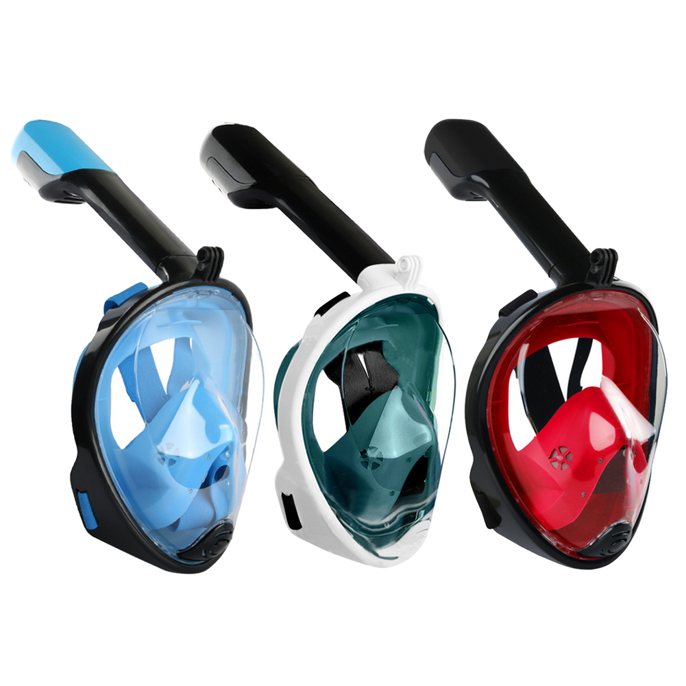 Full Face Scuba Snorkeling Face Mask Underwater Diving Respirator Goggles Snorkeling Set Respiratory Masks Safe and Waterproof(China)