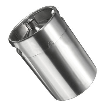 5L Stainless Steel Mini Beer Keg Growler Beer Dispenser Home Brew Beer Brew Making Tool Silver
