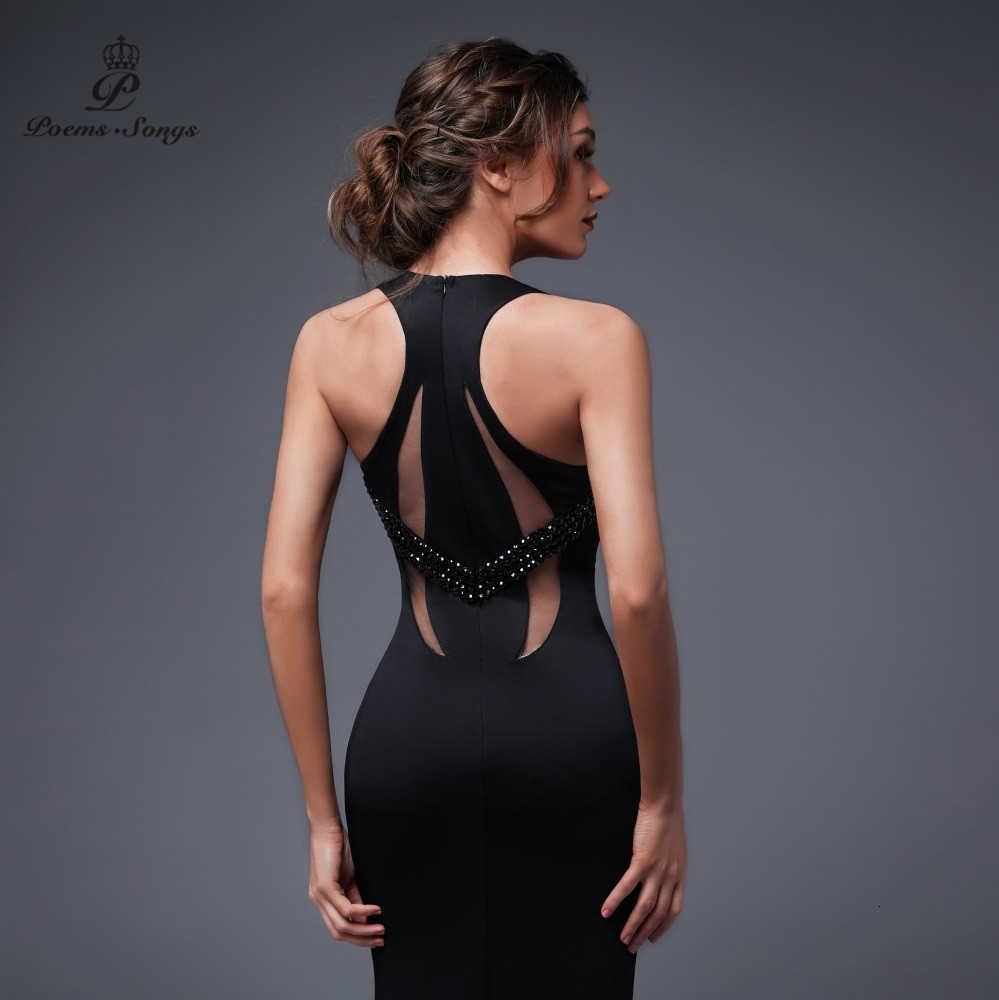 Wiersze piosenki nowa seksowna osobowość powrót suknie wieczorowe na bal Party dress vestido de festa elegancka suknia w stylu Vintage longue