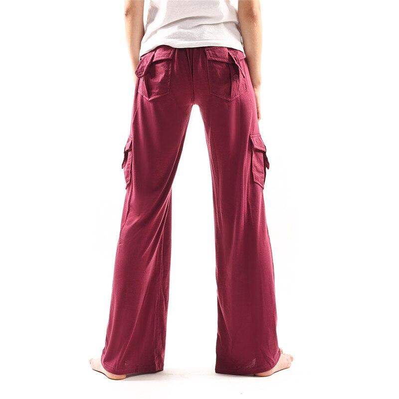 Осенние повседневные женские брюки с широкими штанинами, штаны с высокой талией и пуговицами, свободные эластичные женские брюки для