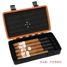 Travel Vintage Metal Tobacco Cigar Pipe Holder Cigar Humidor Tube Black