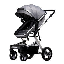Luxury folding baby stroller 3 in 1 baby carriage car baby prams for children hot mom travel pushchair(China)