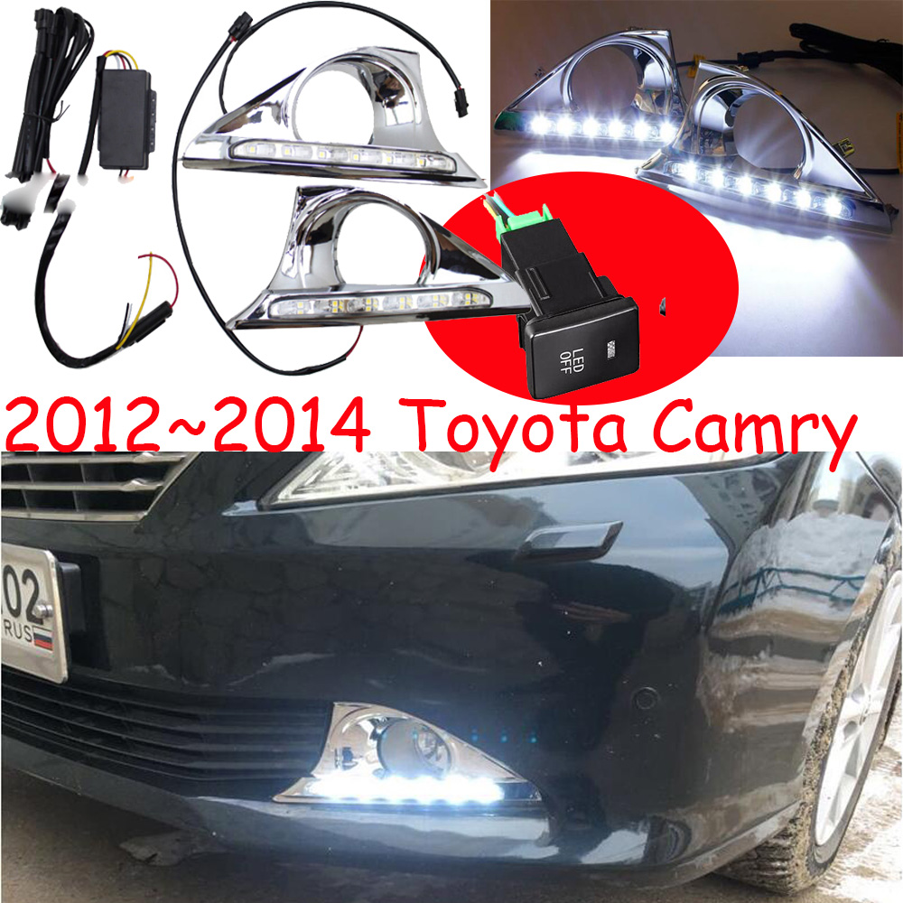 1set 2012 2013 2014y for Toyota camry daytime light aurion car accessories LED DRL headlight for camry fog light