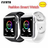 FIFATA A1 Armbanduhr Bluetooth Smart Uhr Sport Schrittzähler Mit SIM Kamera Smartwatch für Android PK iwo 8 DZ09 uhr-in Smart Watches aus Verbraucherelektronik bei