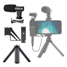 오디오 어댑터 DJI OSMO 포켓/포켓 2 커넥터 용 3.5mm 마이크 마이크 Vlogging Live 용 전화 마운트 홀더 데스크탑 삼각대