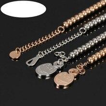 Oulai777 Silver Bracelets Precious Steel Womens Fashion 2019 Bead Bracelet Wholesale Mens Chains Accessories Rose Gold
