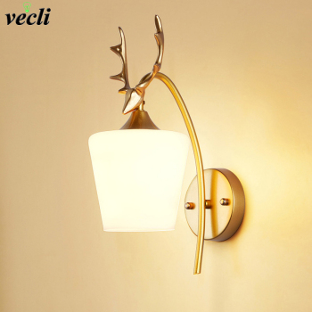 Nordic Glass Wall Light Bedside Wall Lamp Modern Wall Sconce for Bedroom Living Room Industrial Bar Aisle Lighting Fixtures E27 nordic simple living room wall lamp bedroom bedside lighting creative aisle background crystal glass wall sconce light fixture
