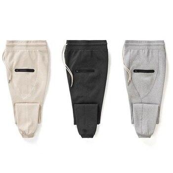 Autumn Men Pants Hip Hop Harem Joggers 2020 New Male Trousers Mens Solid Multi-pocket Sweatpants