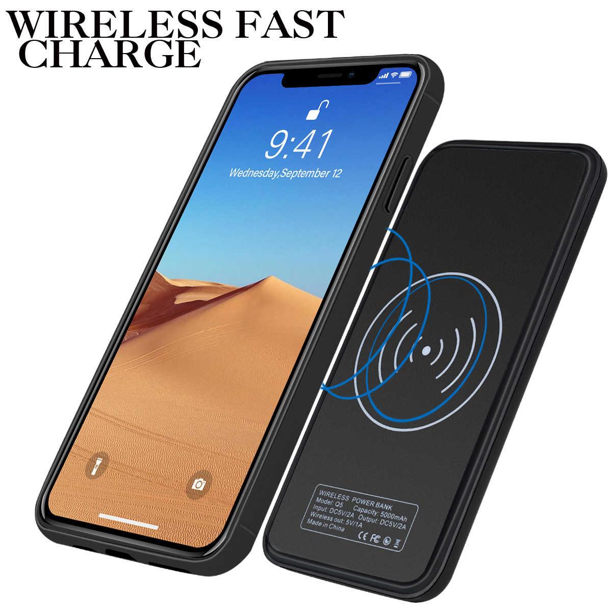 آيفون 11 برو ماكس 6.5 بوصة 5000mAh بطارية الهاتف الذكي قابلة للشحن تمديد البطارية مقاومة للخدش حامي الهاتف