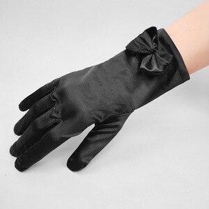 Image 2 - 5 ピース/ロットショート赤指のフラワーガールのウエディング手袋女性ダンスパーティーパフォーマンス手袋