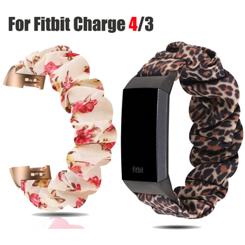 Para Fitbit Charge 4 banda Scrunchie correa de reloj elástica pulsera para Fitbit Charge 4 3 accesorios de reloj inteligente