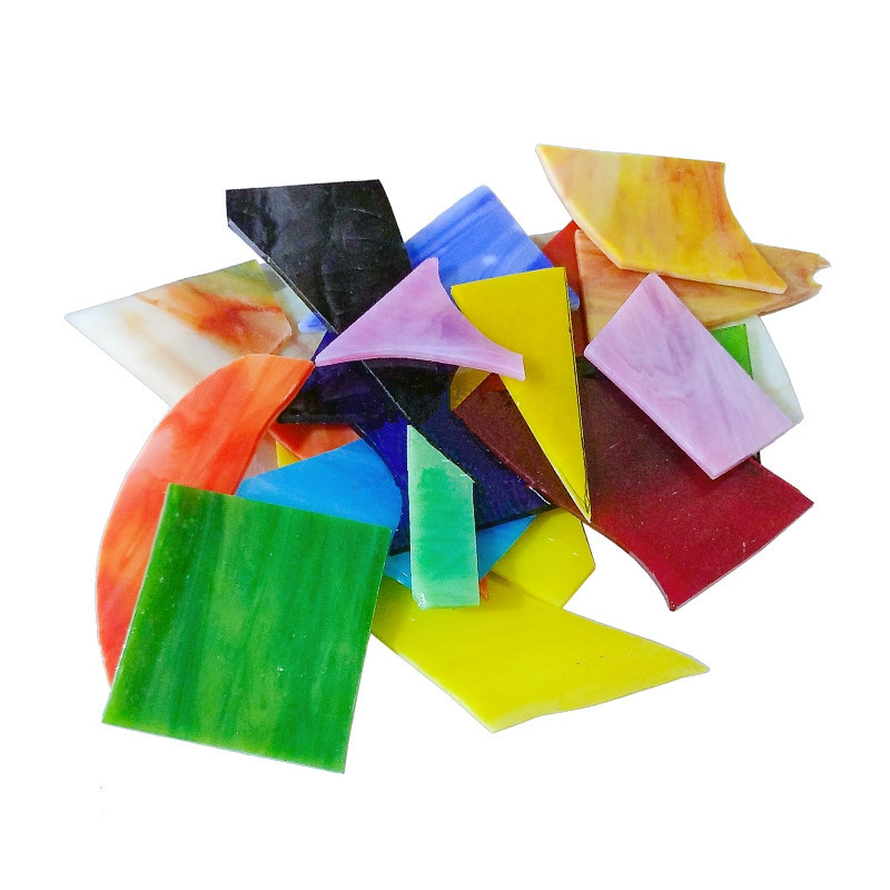 500g Creative Church Mica Glass Mosaic Tiles DIY Wall Crafts Handmade Decorative Materials Various Mixes Irregular Mosaic Tiles