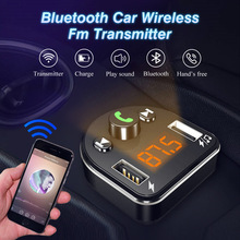 Kit de carro bluetooth sem fio fm transmissor adaptador handsfree bluetooth mp3 player usb flash disk music player carregador rápido