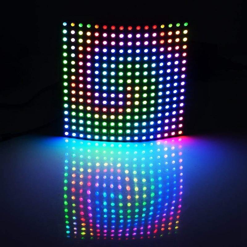 WS2812B 16x16 Pixel 256 Pixels Digital Flexible LED Panel Individually Addressable 5050 RGB Full Dream Color DC5V