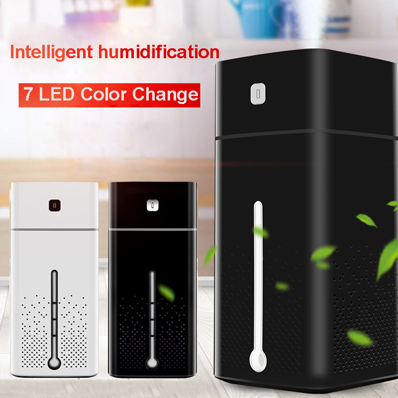 High Quality 1000Ml Air Humidifier Ultrasonic Usb Diffuser Aroma Essential Oil Led Night Light Lamp Mist Purifier 7 Color Light