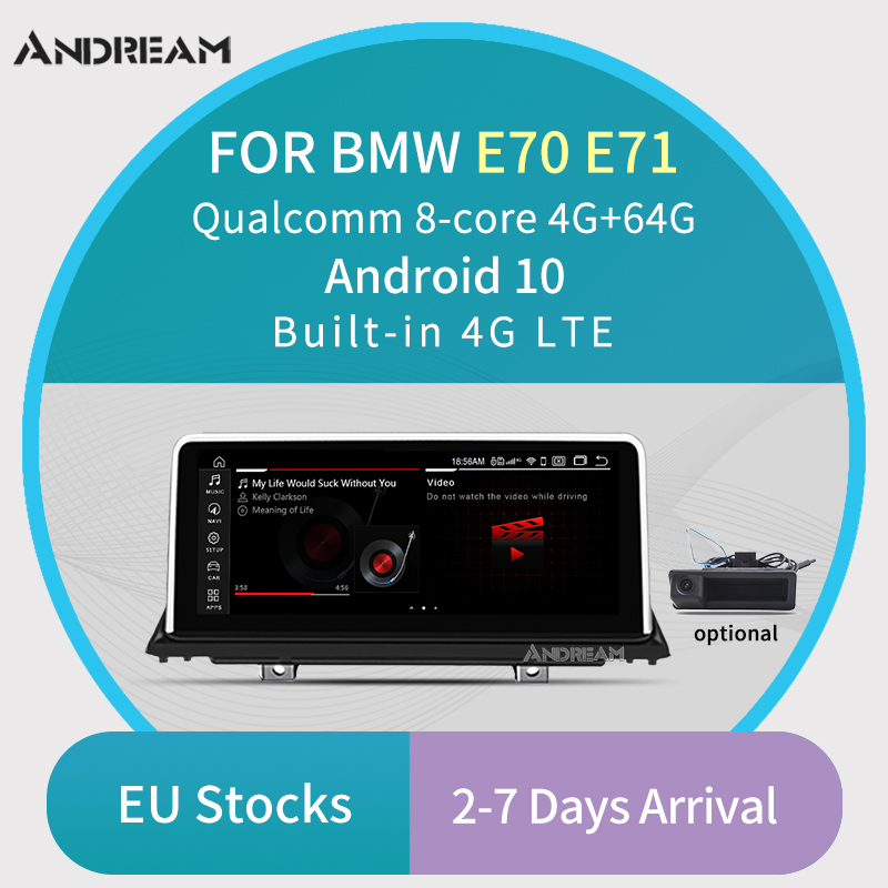 """10.25"""" 8-Core Android 10 4G +64G 4G LTE Car multimedia DVD interface for BMW X5 E70 X6 E71 GPS Navigation Support CCC CIC(China)"""