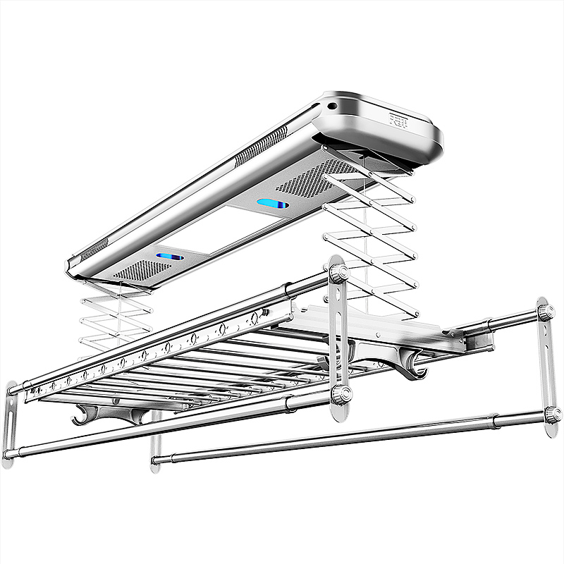 Intelligent Voice Control Electric Clothes-drying Rack Lifting Double-pole Balcony Telescopic Clothes-drying Pole Machine