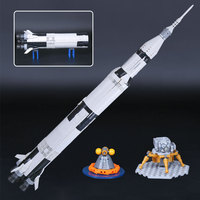 Compatible 21309 80013 Apollo Saturns V Space Launch Model Rocket program Kids Christmas Gifts Science Building Kit
