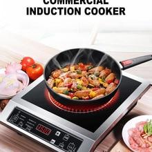 Индукционная плита, электрическая плита, коммерческая панель, варочная установка, жаровня, горячий горшок, суповая печь, 3500 Вт, высокая мощность, WFY-L001