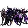 Cs Model Saint Seiya Ex Hades widowiska Wyvern radamanthys Griffon Minos Garuda Aiacos trzy sędziowie piekła metalowy pancerz rysunek